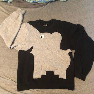 elephant trunk sleeve sweatshirt